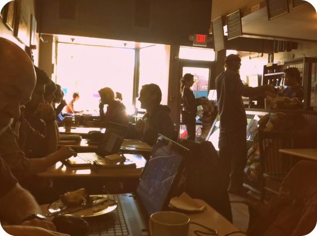 busy coffee shop